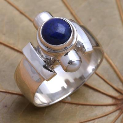Handcrafted Sterling Silver and Lapis Lazuli Ring