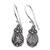 Moonstone earrings, 'Moon Flowers' - Sterling Silver and Moonstone Dangle Earrings (image 2a) thumbail