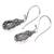 Moonstone earrings, 'Moon Flowers' - Sterling Silver and Moonstone Dangle Earrings (image 2b) thumbail