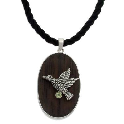 Peridot pendant necklace