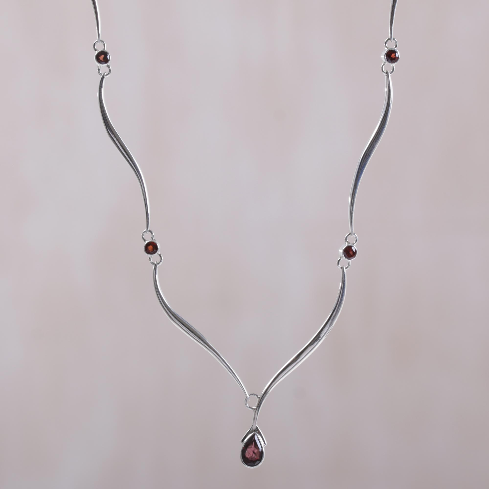 studio double product jewellery prev garnet pendant obsidian
