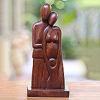 Wood sculpture, 'A Growing Family'