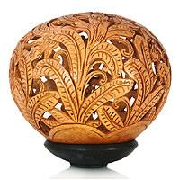 Coconut shell sculpture, 'Banana Trees' - Coconut shell sculpture