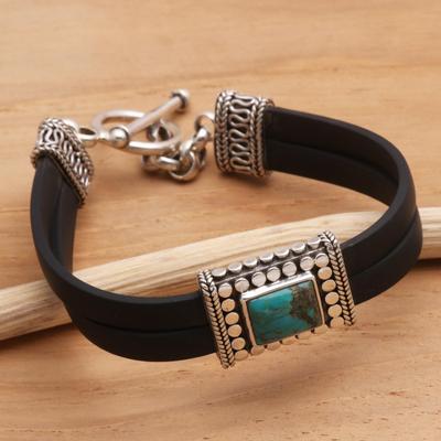 Sterling silver pendant bracelet, 'Everything' - Sterling silver pendant bracelet