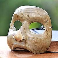 Wood mask, 'Storyteller' - Hand Carved Theatrical Mask