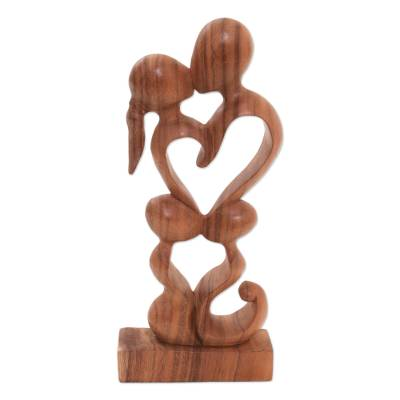 Hand Crafted Heart Shaped Sculpture