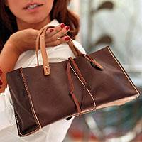 Leather handbag, 'Brown Sophistication' - Leather handbag