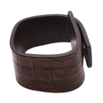Indonesian Leather Wristband Bracelet