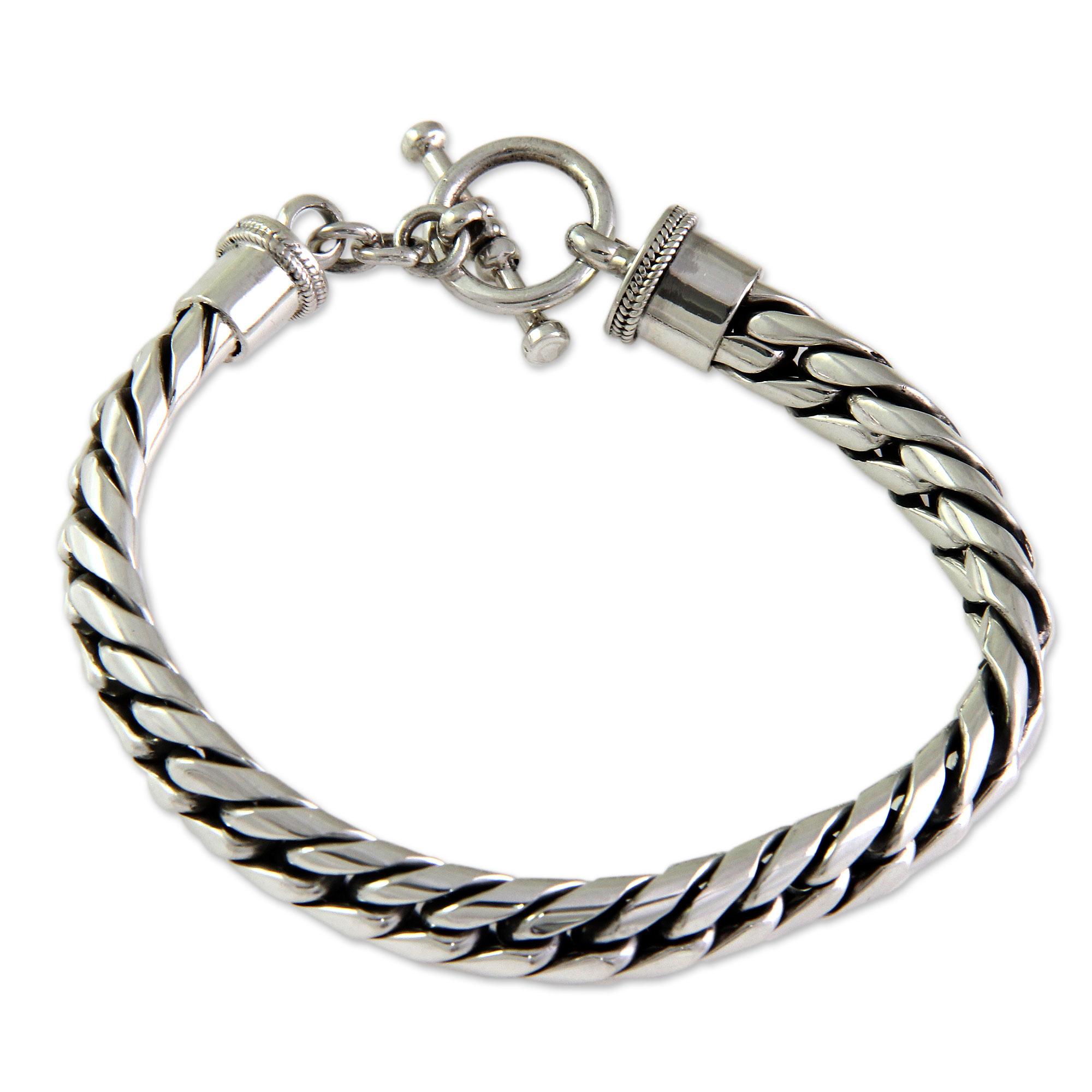 NOVICA .925 Sterling Silver Mens Ring Freedom