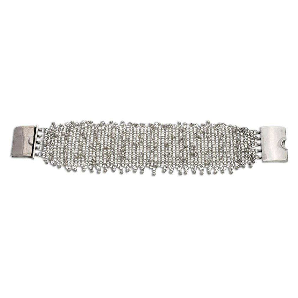 b38b587e2ff98 Indonesian Sterling Silver Chain Mail Armor Link Bracelet , 'Armored  Elegance '