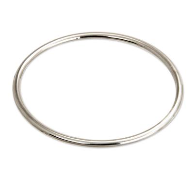 Unique Sterling Silver Bangle Bracelet