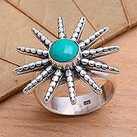 Sterling silver cocktail ring, 'Balinese Sunshine' - Sterling silver cocktail ring