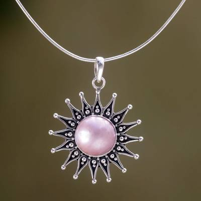 Artisan Crafted Floral Sterling Silver and Pearl Necklace