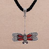 Garnet choker, 'Mysterious Dragonfly'