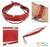 Leather bracelet, 'Red Buoyancy' - Leather Wristband Bracelet with Sterling Silver thumbail