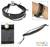 Leather cuff bracelet, 'Black Buoyancy' - Leather Wristband Bracelet thumbail