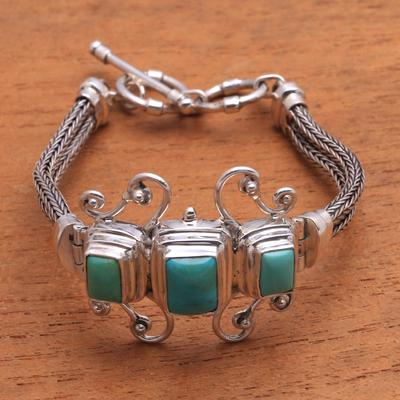 Bracelet, 'Elegant Energy' - Women's Sterling Silver Chain Bracelet