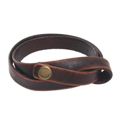 Modern Leather Wrap Bracelet