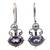 Amethyst and pearl drop earrings, 'Sunrise Spirit' - Sterling Silver Amethyst Drop Earrings (image 2a) thumbail