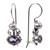 Amethyst and pearl drop earrings, 'Sunrise Spirit' - Sterling Silver Amethyst Drop Earrings (image 2e) thumbail