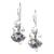 Amethyst and pearl drop earrings, 'Sunrise Spirit' - Sterling Silver Amethyst Drop Earrings (image 2f) thumbail