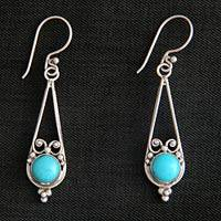 Sterling silver dangle earrings, 'Destiny'