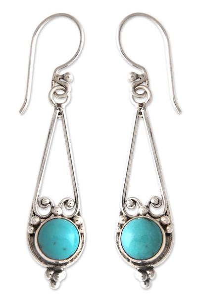 Sterling silver dangle earrings, 'Destiny' - Sterling Silver Dangle Earrings