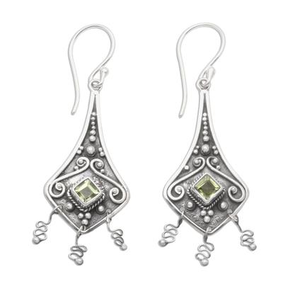Peridot dangle earrings