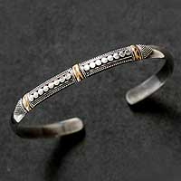 Featured review for Sterling silver cuff bracelet, Fireflies
