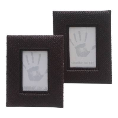 Handwoven Photo Frame Set (3x5 and 4x6)