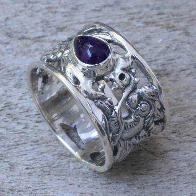 Amethyst band ring, Dragon Guardian