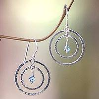 Earrings, 'Blue Halo'