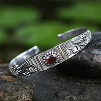 Garnet bracelet, 'Paradise'