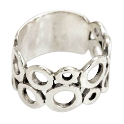 Sterling silver band ring, 'Afternoon' - Sterling Silver Band Ring