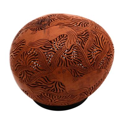 Coconut shell sculpture