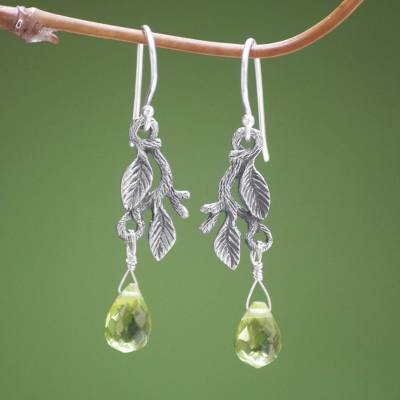 Sterling silver dangle earrings, 'Rainforest' - Women's Sterling Silver Dangle Earrings
