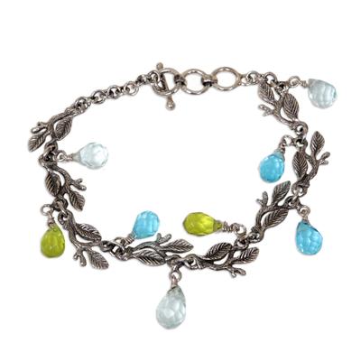 Sterling silver charm bracelet, 'Rainforest' - Sterling Silver Charm Bracelet