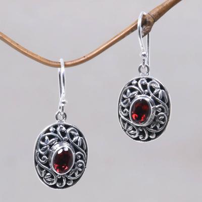 Novica Garnet dangle earrings, Beautiful Inspiration