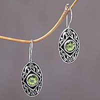 Peridot drop earrings, 'Desire' - Peridot drop earrings