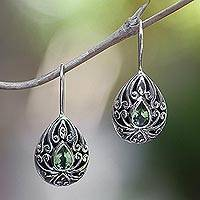 Peridot drop earrings,
