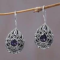 Amethyst drop earrings, 'Paradise Tears' - Amethyst drop earrings