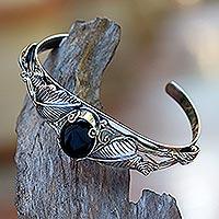 Onyx bracelet, 'Black Lily'