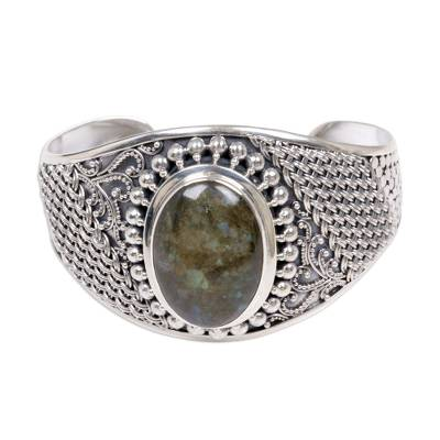 Labradorite Sterling Silver Cuff Bracelet