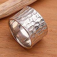 Men's sterling silver ring, 'The Original'