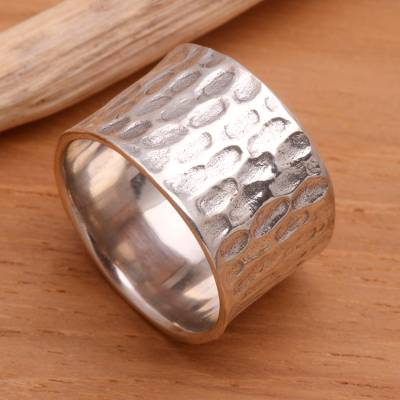 Men's sterling silver ring, 'The Original' - Men's Sterling Silver Ring