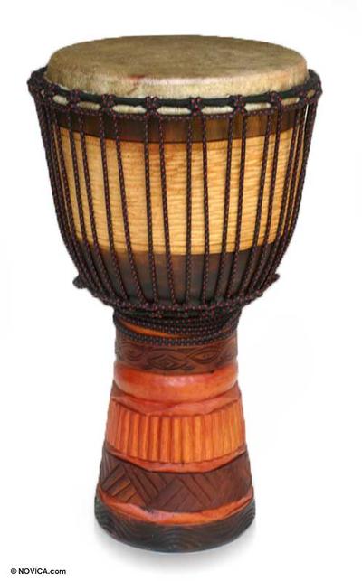 Mahogany jambe drum