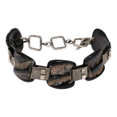 Horn link bracelet
