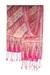 Silk batik scarf, 'Pink Fantasy' - Hand Crafted Batik Silk Patterned Scarf from Indonesia (image 2d) thumbail