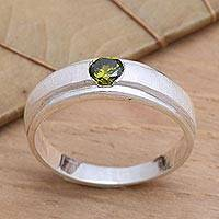 Peridot solitaire ring, 'Honeymoon'