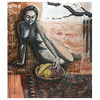 'Taste the Sweets of the World' - Artistic Nude Oil Painting